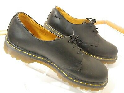 Dr Doc Martens Black Leather Air Cushion Oxford Shoes Mens US 11