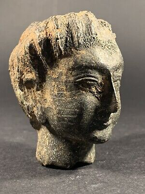 Circa 200-300Ad Ancient Roman Bronze Statue Fragment Head Of Diana Scarce