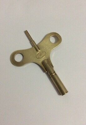 Vtg Brass Popular Progress Double Ended Sz 12 Clock Key Made In England
