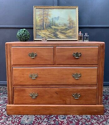 Gorgeous Antique Kauri Pine Bedroom Chest Of Drawers Lowboy Large Deep Size