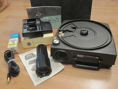 Vintage Kodak Carousel 850 Slide Projector w/Extras Very Nice Working Condition
