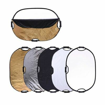 Photography Studio Reflector Disc, 60x90cm, 5in1 Collapsible Pro Light Diffuser