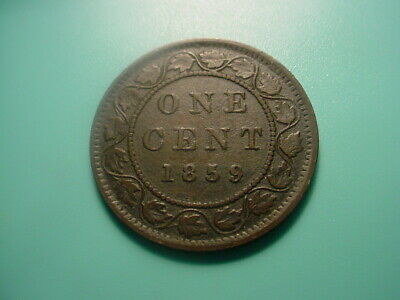 Canada 1859 Large Cent In Nice Condition