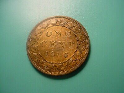 Canada 1886 Large Cent In Nice Condition