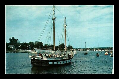 Dr Jim Stamps Us Cruise Ship Mystic Whaler Connecticut Topical Postcard