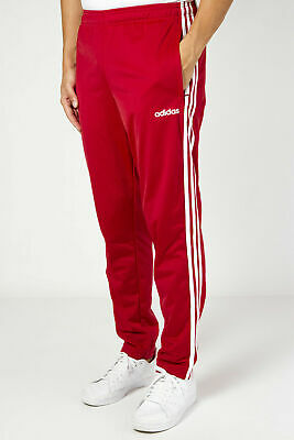 Pantaloni Adidas Uomo Tuta Ei4886 Essentials 3 Stripes Pants Tric Bordeaux Rosso
