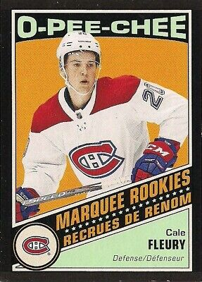 Cale Fleury 2019-20 O-Pee-Chee OPC Retro Black #636 RC Rookie /100 Montreal Habs