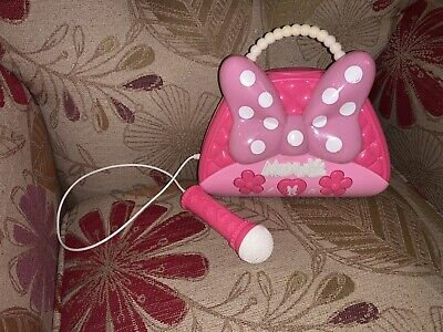 Minnie Mouse Girls Karaoke Machine Boombox with Real Working Microphone