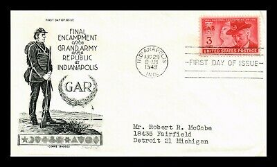 Dr Jim Stamps Us Grand Army Of Republic Gar Fdc Cover Scott 985 Smart Craft