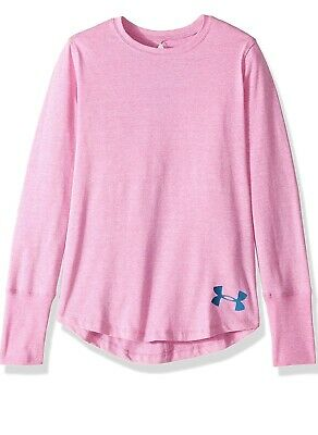 Under Armour Girls Athletic Long Sleeve Shirt Top Sz YXL XL NWT New $30