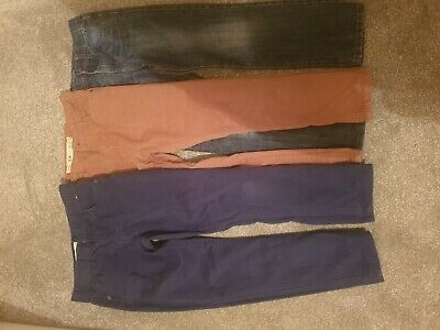 Boys Trousers Bundle 3 Pairs Age 8-9 Jeans And Chinos
