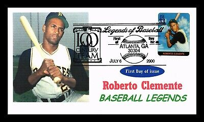 Dr Jim Stamps Us Roberto Clemente Baseball Legends First Day Cover