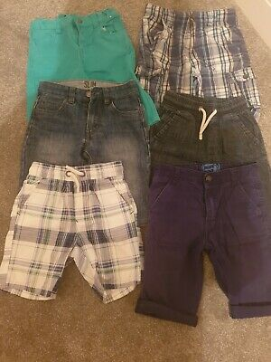 Boys Shorts Bundle 6 Pairs Age 7-8 Next, blue zoo, primark