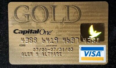 Capital One Gold Visa credit card exp 2003♡Free Shipping♡cc886