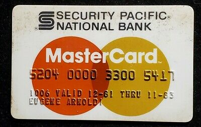 Security Pacific National Bank MasterCard exp 1983 ♡Free Shipping♡cc887♡