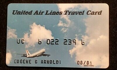 United Air Lines Travel Card exp 1981 ♡Free Shipping♡cc852♡