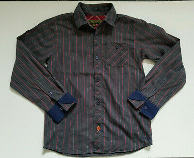 TED BAKER Long Sleeved Striped Shirt Boy 11 Years 146cm 100%Cotton