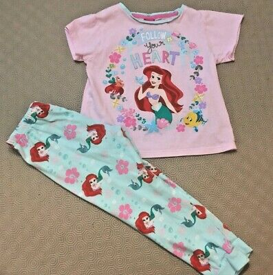 Disney Princess Girls Pyjama Set  Age 6 Years  Great Cond