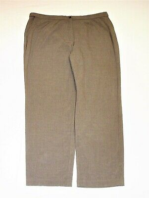 JM Collection Womens Size 20W Gray Dress Pants Slacks Elastic Waistband Stretch