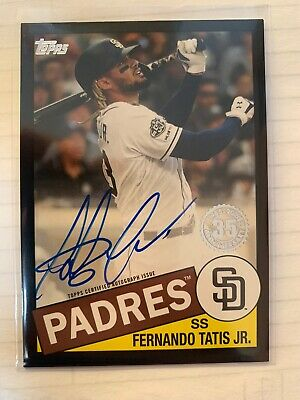 2020 Topps Series 1 - Fernando Tatis Jr - 1985 ON CARD AUTO BLACK Padres SP /199