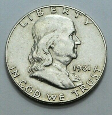 1961-D Franklin Half Dollar COIN 90% silver 50c, NO RESERVE  .!.!.
