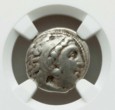 Greek Silver Drachm of Alexander III the Great, 336-323 BC NGC Certified VF-ish