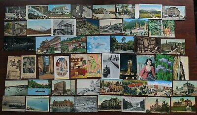 Lot of 50 Vintage Postcards, Greeting, Cities Old Check #5