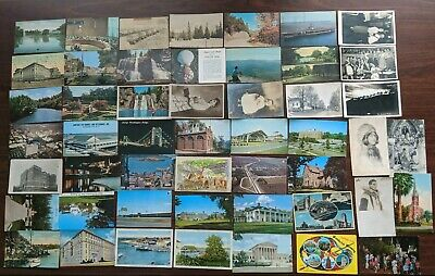 Lot of 50 Vintage Postcards, Greeting, Cities Old Check #3
