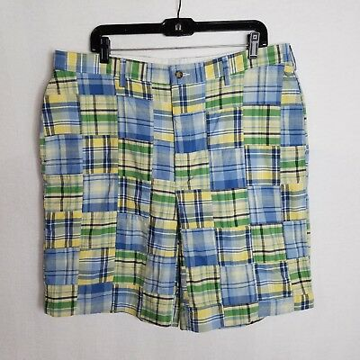 New Jos A Bank Mens Madras Plaid Casual Shorts Size 38 $89.50 I429