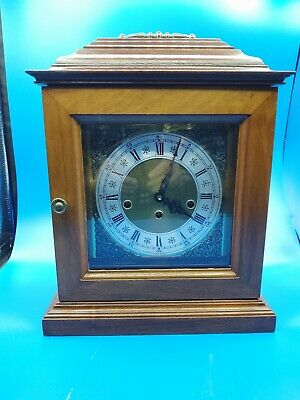 Vintage German Westminster Chime Carriage Shelf Mantle Clock