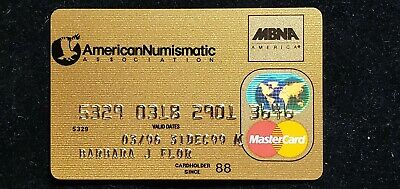American Numismatic Association  Gold Credit Card exp 1996 ♡Free Shipping♡cc845♡