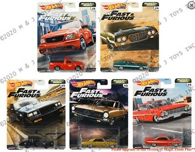 Hot Wheels FAST & FURIOUS 2020 FAST V8 RELEASE G PREMIUM SET Of5 MARCH Pre-Order