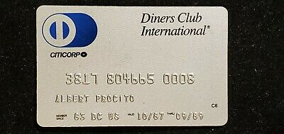 1989 Diners Club Credit Card♡Free Shipping♡cc421♡ CitiCorp