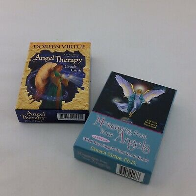 ANGEL THERAPY Oracle Cards 45 Card Deck and Guidebook Doreen Virtue OOP Tarot