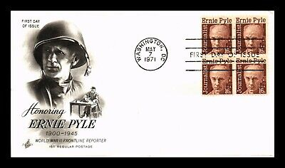Dr Jim Stamps Us Ernie Pyle Wwii Journalist First Day Cover Block Art Craft