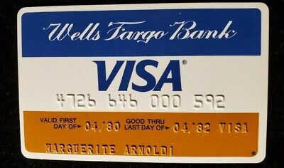 Wells Fargo Bank Visa Credit Card exp 1979 ♡Free Shipping♡cc859♡