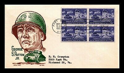 Dr Jim Stamps Us General Patton First Day Cover Scott 1026 Block