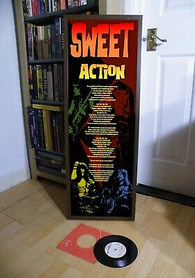 Sweet Action Promotional Poster Lyric Sheet,Glam,Bowie,Fa,Desolation,Fox On Run