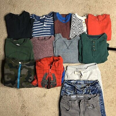 Lot of Boys Size 4T Gap Zara H&M Burts Bees Gymboree Old Navy Jeans Hoodie Tops