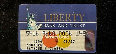 Liberty Bank and Trust MasterCard credit card exp 1987♡Free Shipping♡cc667