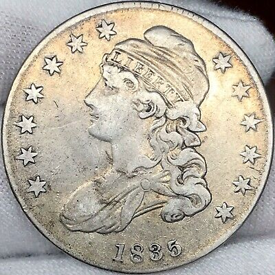 1835 50C Capped Bust Half Dollar ||| Great Looking Early US Type Coin!