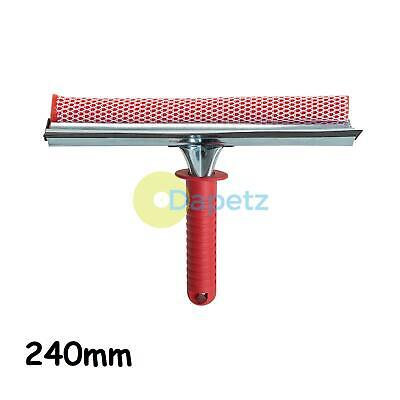 Hand Squeegee 250mm Rubber Blade Sponge Washer Cleaning Office Dual Sided