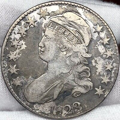1823 50C Capped Bust Half Dollar ||| Great Looking Early US Type Coin!