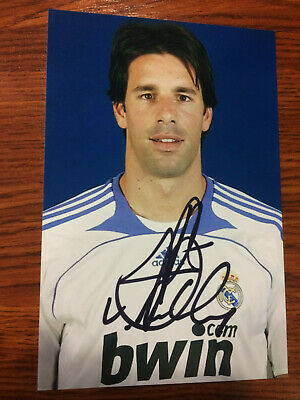 Ruud van Nistelrooy autograph Signed photo,Real Madrid, Manchester United, PSV