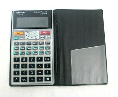 Genuine Sharp EL-738 Business & Financial Calculator