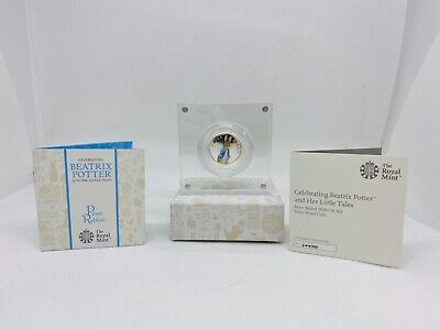 Peter Rabbit 2019 50p Silver Proof Coin, Limited Edition COA BEATRIX POTTER UK