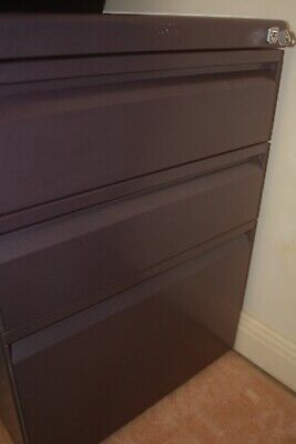 3 Drawers Mobile Pedestal - Grape Colour