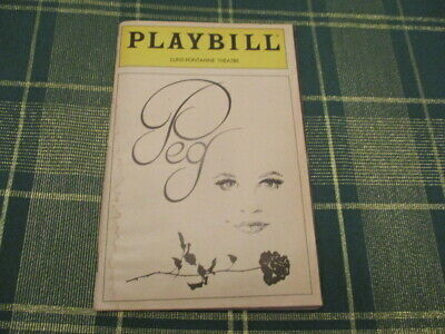 Vintage Playbill Of Peggy Lee Opening Night Play From 1983 Great Condition
