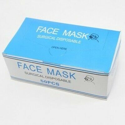Disposable  FACE MASK flu- virus surgical 3-layer with earloops