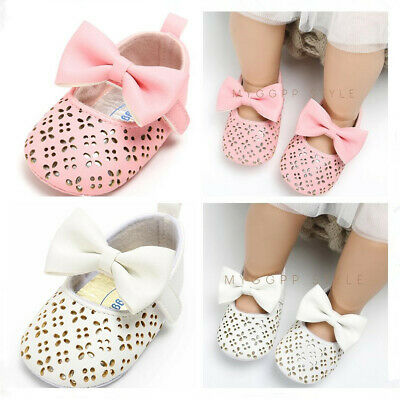 Newborn to 18 M Baby Girls Crib Shoes Infant Child Faux Leather Princess Shoes